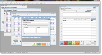 Image of some invoicing software developed by Knightwood Computer Services